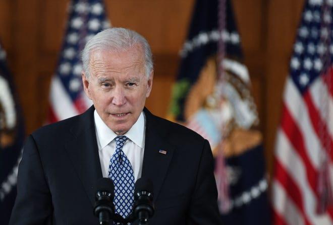 President Joe Biden on March 19, 2021, in Atlanta.