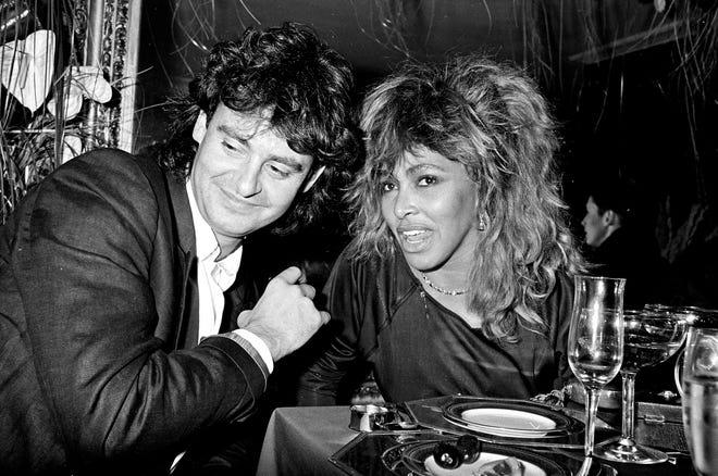 Tina Turner, right, met German-born music executive Erwin Bach in 1985.