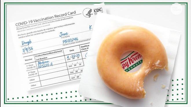 eb7b6e39 a5eb 40db 8602 bfaeedd48754 VPC KRISPY KREME VACCINATION GIVEAWAY DESK THUMB Where to get free ice cream on National Ice Cream Day Sunday, plus deals at Dairy Queen, McDonald's and more