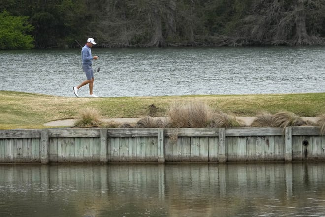 Justin Thomas walks off the 14th tee during a practice round Monday at the Austin Country Club in advance of this week's Dell Technologies Match Play Championship.