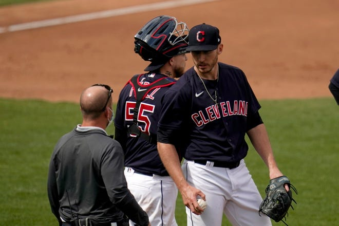 Cleveland pitcher Trevor Stephan made one big mistake Friday night at Progressive Field and New York slugger Giancarlo Stanton hit his second home run of the game to help the Yankees win 5-3. [Ross D. Franklin/Associated Press]