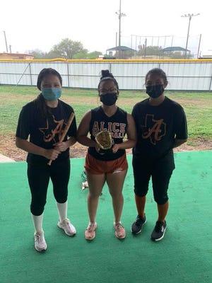 Merigrace Cantu on being Big Stick Hitter of the Game vs Laredo LBJ. Ava Hernandez and Maylynn Saenz on being Gold Glove Players of the Game vs Laredo LBJ.