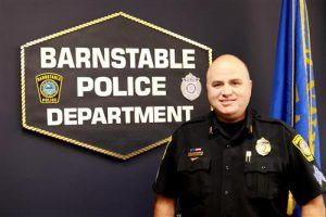 """Sgt. Gene """"Papa Geno"""" Desruisseaux is not only a full-time Barnstable Police officer, he also supervises the School Resource Officer (SRO) Unit, part of the BPD's Community Service Division. He has proudly served as Centerville Elementary School's Adopt-A-School Officer for nine years."""