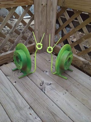 Pictured are a pair of snails created by Avon's Jarrod Anderson.