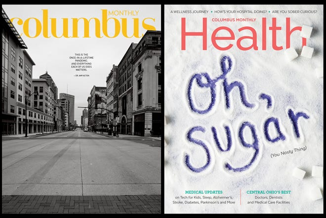 Columbus Monthly's May issue and Columbus Monthly Health's 2020 issue