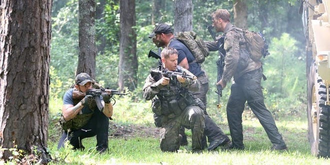 The military will be training in central North Carolina for two weeks, beginning on Friday, March 26.
