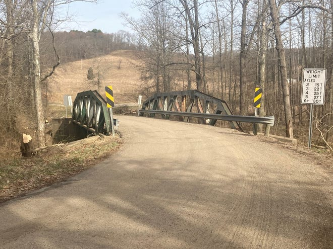 The Guernsey County Highway Department will replace this bridge on Pigeon Gap Road later this year resulting in the road being closed to traffic.