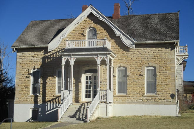 """The Ford County Historical Society has been awarded $10,000 from the Community Foundation of Southwest Kansas for the completion of the interior of the Mueller-Schmidt House — Home of Stone. """"This will help complete the renovation of the oldest house in Ford County still located on its original site,"""" said Sonya Hughes with the historical society. """"The Ford County Historical Society is grateful to the Community Foundation for their continued and generous support of the society."""" The Bat Masterson statue, which the community foundation has also generously helped fund, will be located by the Home of Stone when it is dedicated this fall."""