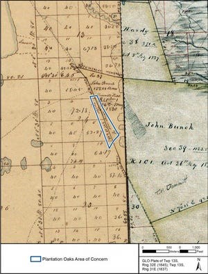 Historical maps dating to 1837 and 1845 show Old King's Road went directly through the Plantation Oaks property Volusia County is considering purchasing to save from development. The land is adjacent to the Ormond Scenic Loop and Trail.