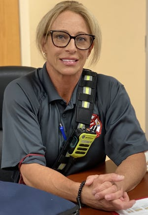Tracy Farmer, firefighter/ paramedic for Flagler County Fire Rescue