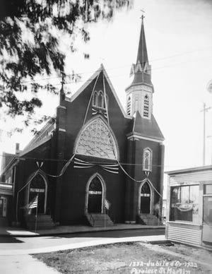 The exterior of the old St. Martin's Church. circa 1932.