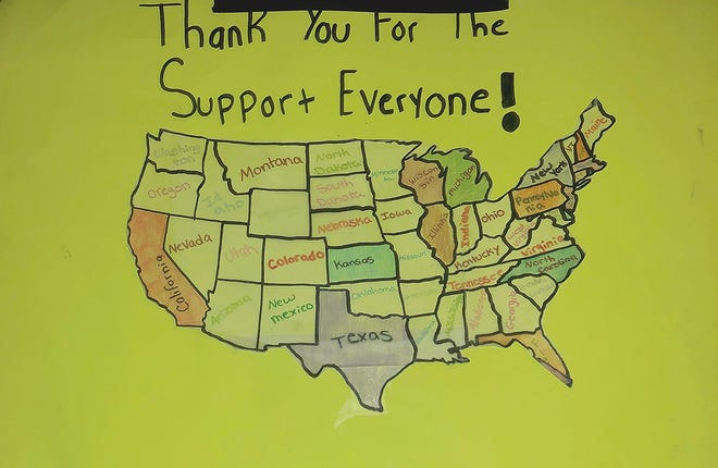 Behind every successful project there is always a strong support system — this map shows all of the different places where Girl Scout Amber Wood's bullying project website has been viewed.