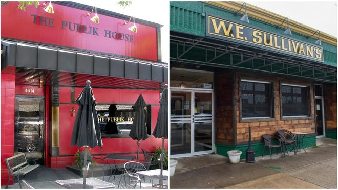 Publik House and W.E. Sullivan's in Peoria Heights.