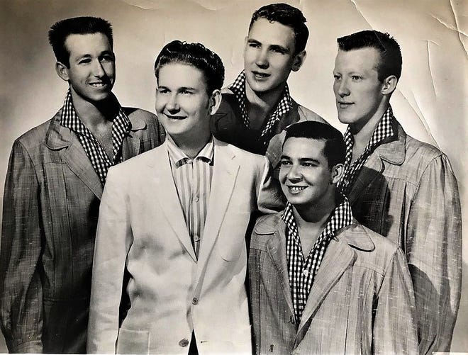 Roy Orbison, second from left, pictured with the Teen Kings, circa 1956.