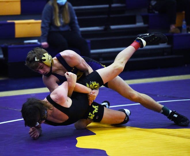 Drew Robinson went 16-3 at 126 pounds as a sophomore for the Nevada wrestling team in 2020-2021. Robinson, a state qualifier at 106 as a freshman, will be looking to make it back to Des Moines next year as a junior.