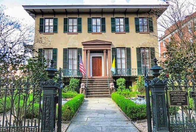 Built between 1847 and 1849, the Andrew Low House in Savannah is open for public tours.