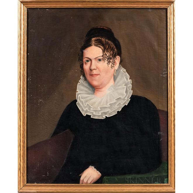 A portrait of Sarah March of Portsmouth by John S. Blunt, a Portsmouth-born painter and art teacher best known for landscapes, maritime scenes and portraits. Originally commissioned for $12 in 1821, the painting was recently donated to the Portsmouth Historical Society.