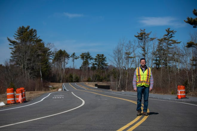 York Director of Public Works Dean Lessard poses at Short Sands Road, the connector road between Route 1 and Ridge Road on Tuesday, March 23, 2021.