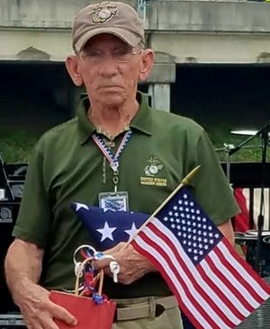 Mike Little, a longtime member of the Plaquemine Police Department, is seen here during a July 4th ceremony in which he was honored for his service in Vietnam.
