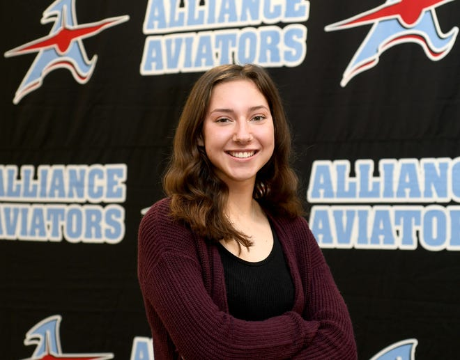Stark State College Teen of the Month, Alliance senior Meghan Frazier. Tuesday, March 23, 2021.