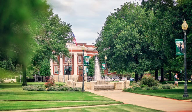 The Oval on the OBU campus in Shawnee.