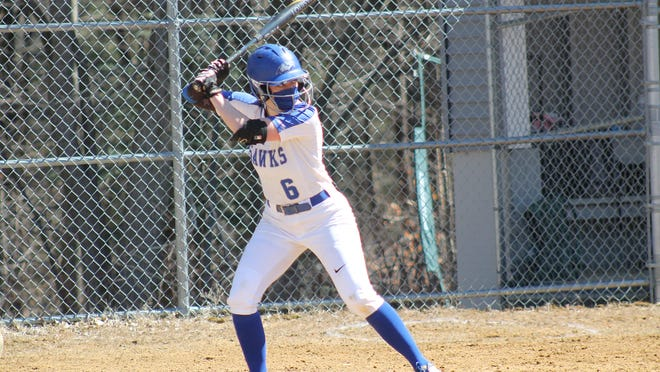 Becker senior shortstop Sarah Ellis extended her school record with her 41st and 42nd career doubles during Tuesday's doubleheader against Worcester State.