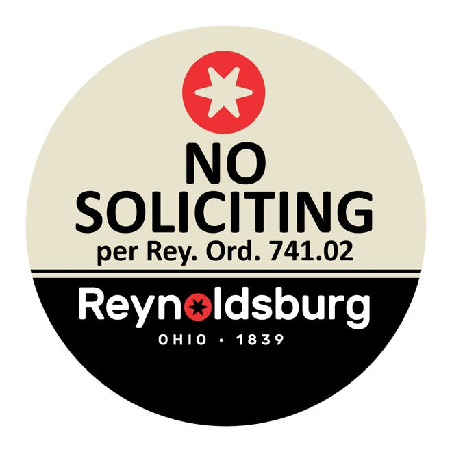 Door signs are available in the lobby of the Reynoldsburg Police Department, 7240 E. Main Street, between 7 a.m. and 3:30 p.m. Monday through Friday.Signs also can be downloaded from the city's website.