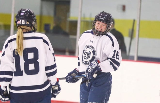 Shannon (18) and Jordan Colbert (16) have been hockey teammates at the youth, high school and college levels.