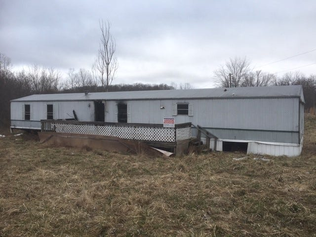 The scene of a fire at 16129 State Route 772 in Waverly, Pike County.