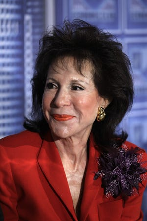 Florine Mark at a meeting of the Detroit Economic Club in Detroit, Friday, April 13, 2012.  (AP Photo/Carlos Osorio)