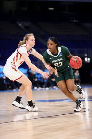 Janai Crooms helped Michigan State reach the NCAA Tournament in 2021.