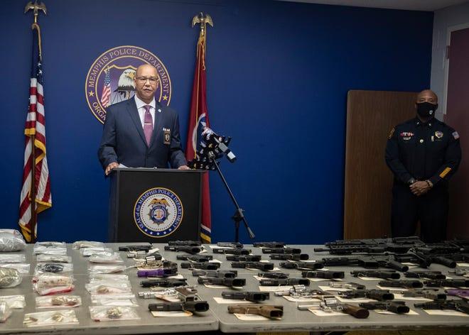 Memphis Police Director Michael Rallings speaks during a press conference addressing Operation Winter Freeze II on Tuesday, March 23, 2021.