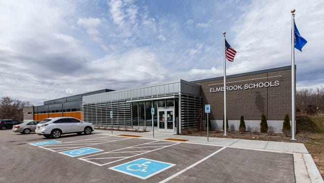 FILE PHOTO: Elmbrook School District building at 3555 North Calhoun Rd., in Brookfield as seen on Tuesday, March 23, 2021.