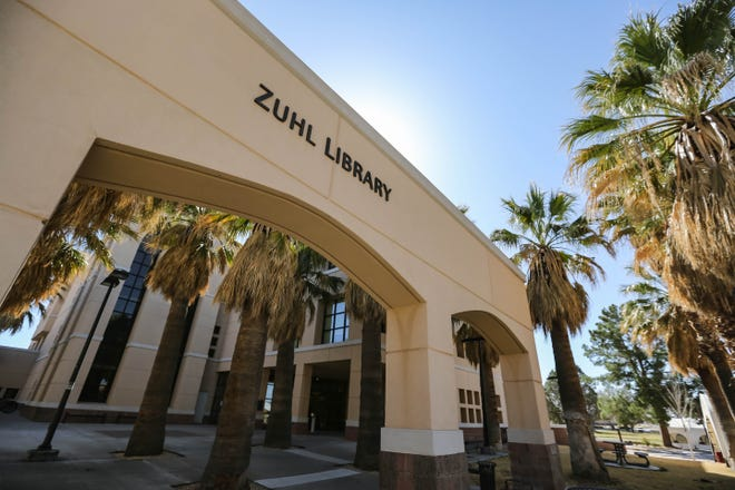 Zuhl Library is pictured on New Mexico State Campus in Las Cruces on Tuesday, March 23, 2020.