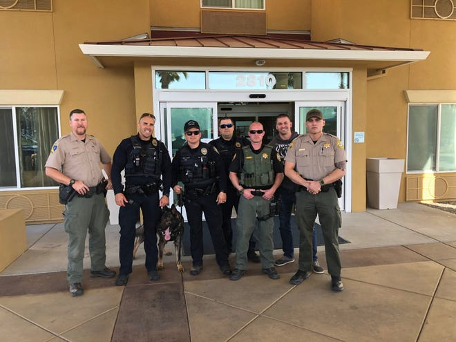 Redding police shared this photo of law enforcement officers from multiple agencies as part of a press release on the arrest of Ruben Reyes Ybarra of Redding.