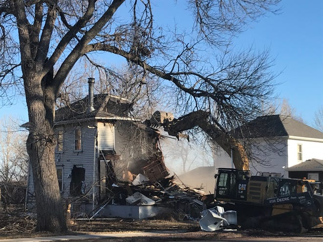 Nine Dell Rapids houses were razed earlier this month.