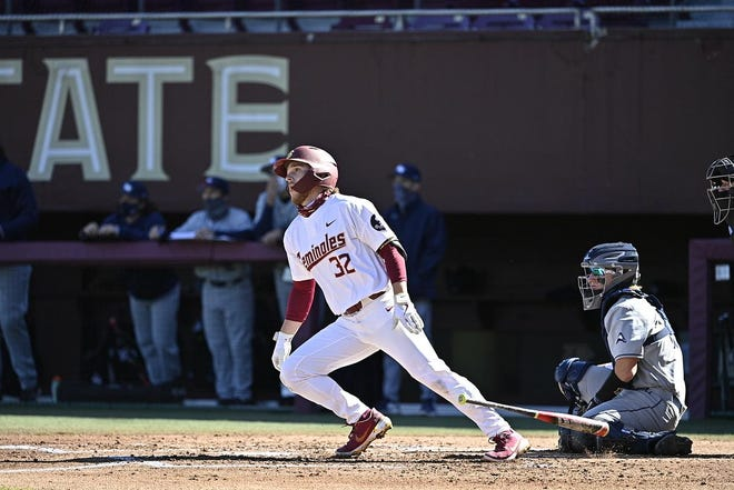 FSU utility player Logan Lacey is hitting .309 with two home runs and 10 RBI this season