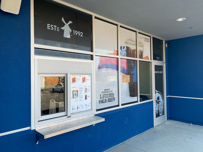 Visalia's second Dutch Bros at 827 S. Akers, near the Tulare/Akers Professional Center, will open Friday. The popular coffee shop features two drive-thru lines to alleviate potential traffic concerns.