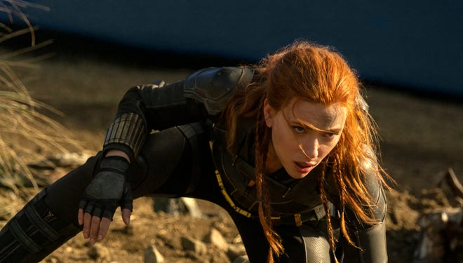 """Black Widow,"" starring Scarlett Johansson as the Avengers' secret-agent superhero, will finally hit theaters and the Disney+ streaming service in July."