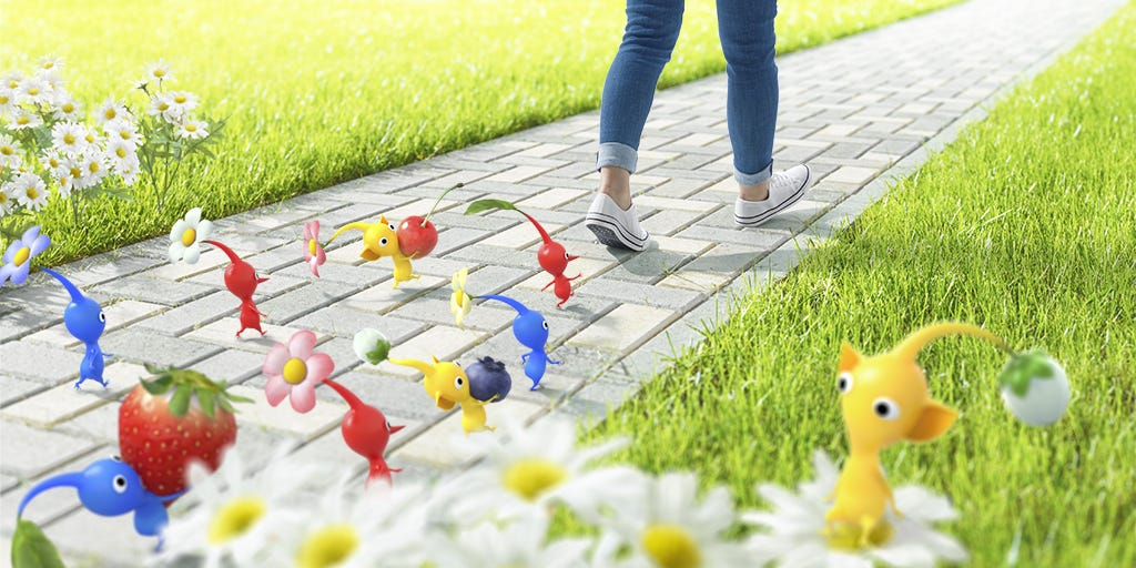 Nintendo s colorful  Pikmin  video game will be inspiration for  Pokémon Go  maker s next augmented reality release