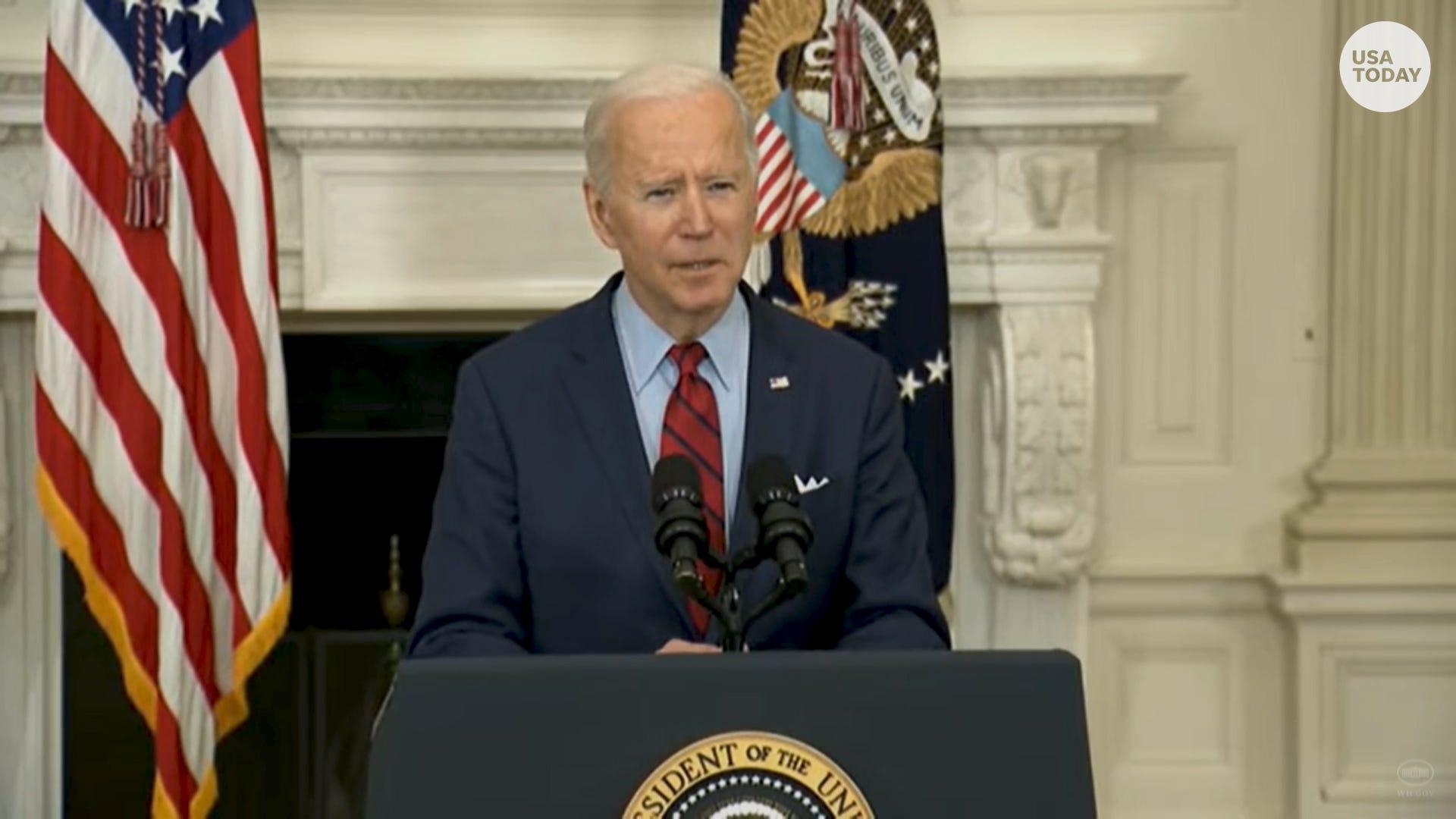 President Biden urges Congress to pass gun safety measures after shooting in Boulder, Colorado