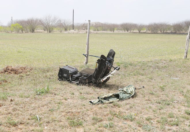Occupants of the Navy jet that crashed on County Road 308 were able to eject before the plane crashed and caught fire.