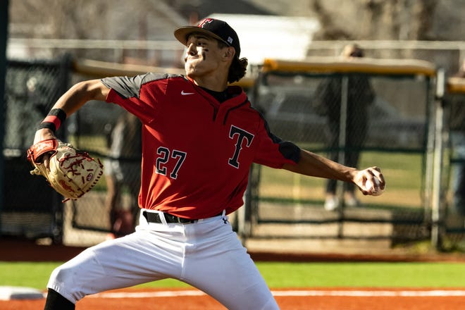 Javen Patrick throws the ball for Tascosa in a game earlier this season.