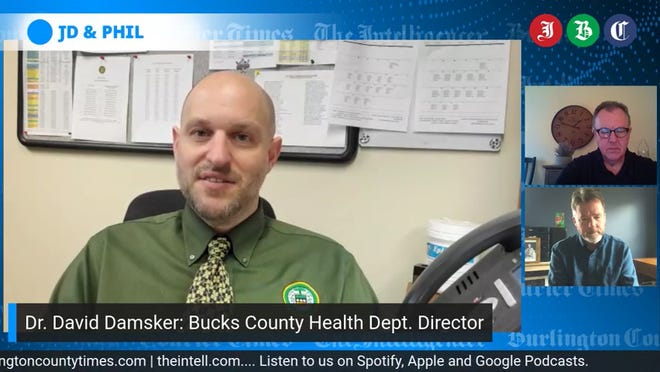Bucks County Health Dept. Director Dr. David Damsker talks to JD and Phil about the toll of coronavirus locally, and the prospects of returning to life as it was prior to the virus.