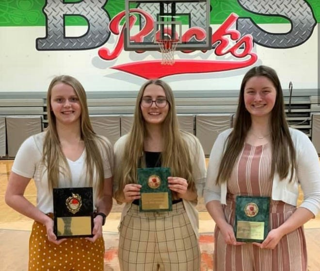 Barnesville High School girl's basketball players recently received special awards. Those include, Rylee Stephens, MVP; Elly Thompson, Most Improved; Kinzie Kaplet, Best Teammate; and Ava McFarland, Most Hustle (not pictured).
