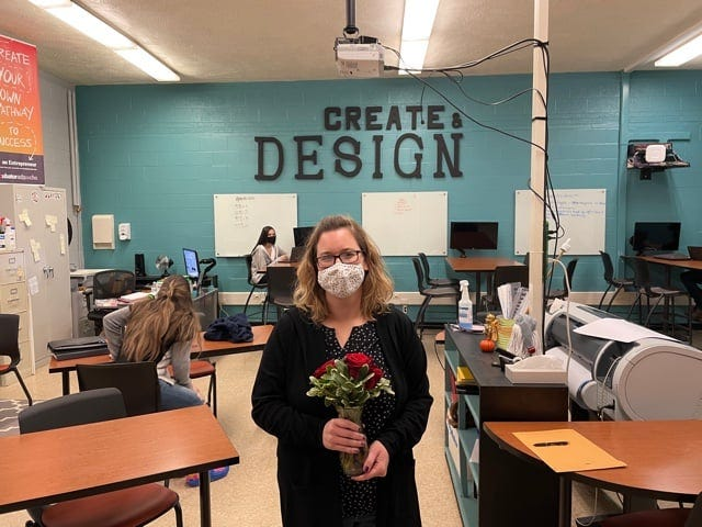 Congratulations to Canton High School's Laura Anderson, who was presented with the STEM Award for YWCA's 40th Annual Salute to Women of Achievement.
