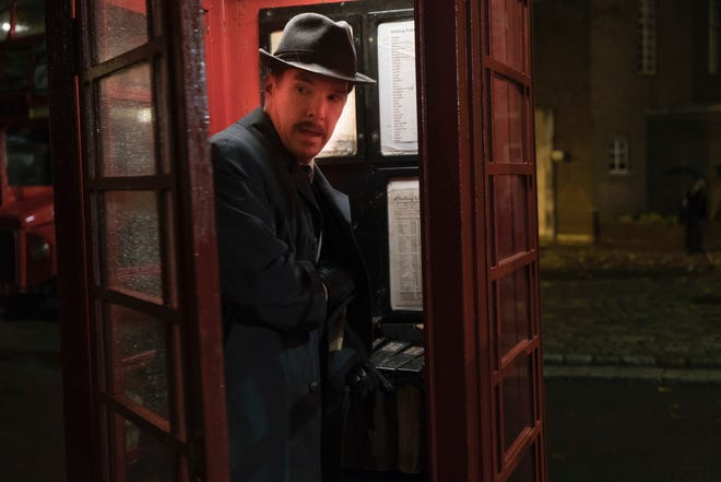 """This image released by Roadside Attractions shows Benedict Cumberbatch in a scene from """"The Courier."""" (Liam Daniel/Roadside Attractions via AP)"""