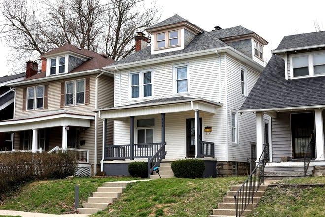 Home values in some of the Near East Side areas are leaping, in part because of flipped properties. This renovated house on Studer Avenue in Driving Park sold in September for $317,000, six months after being bought for $88,000.