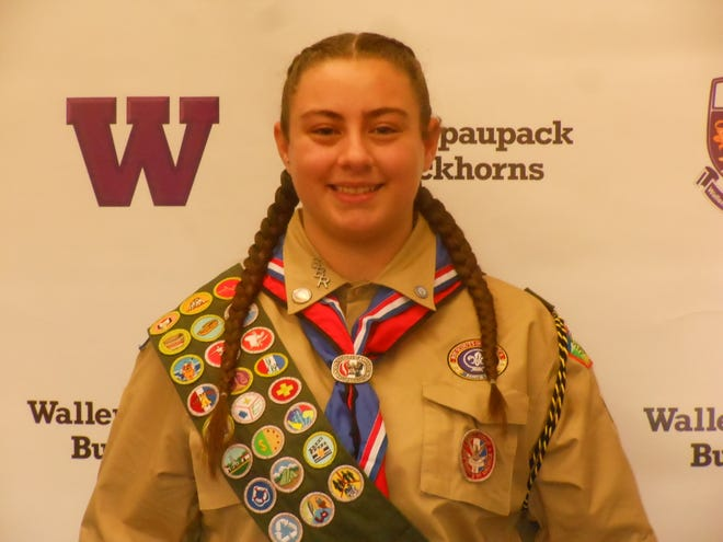 Angelina Krug, Eagle Scout, and Wallenpaupack Area High School 9th grader
