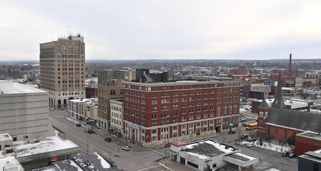 Downtown Erie is seen in this 2019 file photo.